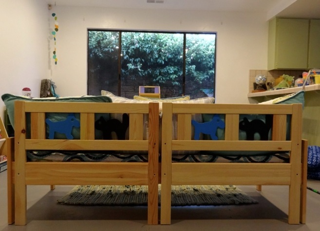 Ikea Kritter Toddler Bed Review ~   Daybed for the Kids' Playroom (Recycled Ikea Kritter Toddler Beds